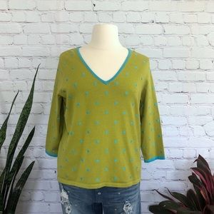 NWT Jones New York Polka Dot Sweater